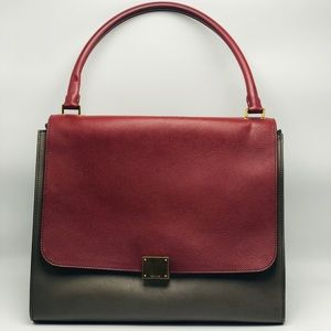 EUC Celine Tricolor Trapeze Leather/Suede Purse